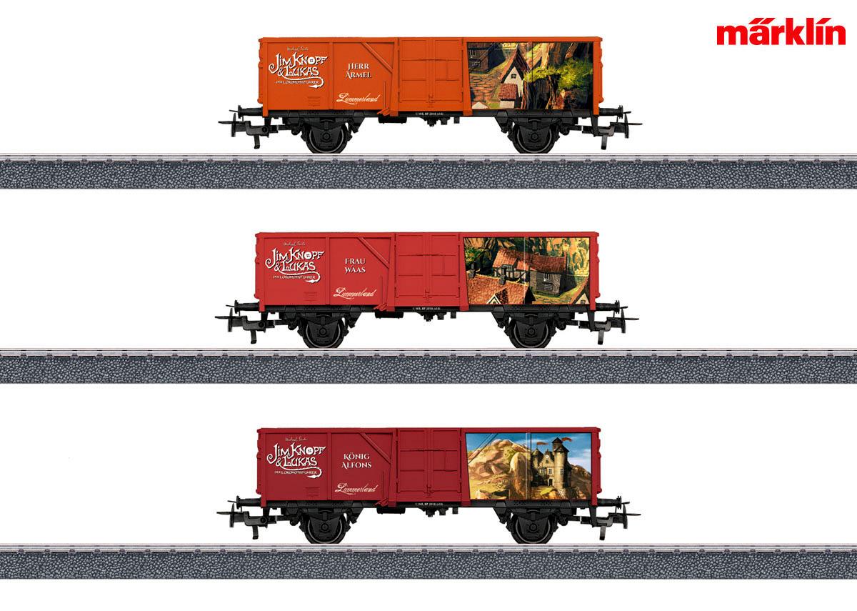 """+ Märklin 44815 Güterwagen-Set 1 /""""Jim Knopf/"""" NEU in OVP"""